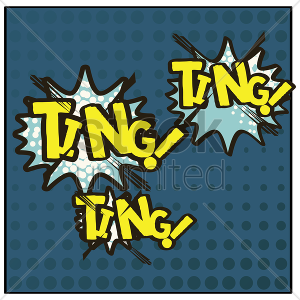 ting comic speech bubble vector graphic