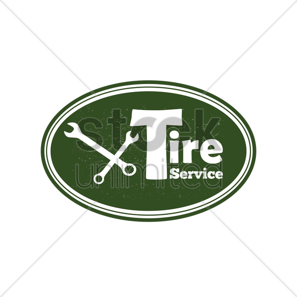 tire service sign vector graphic
