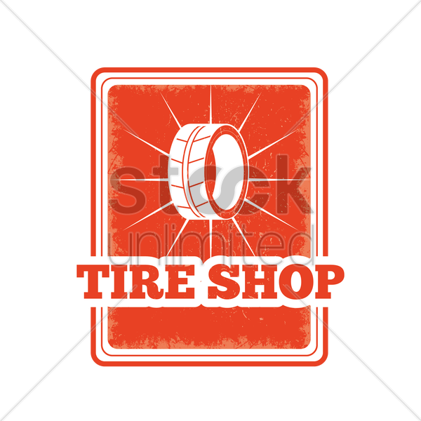 tire shop sign vector graphic