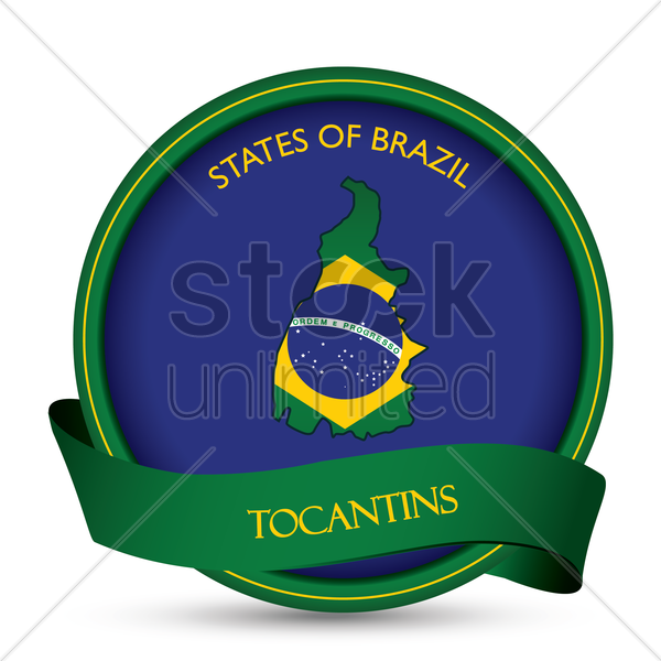 tocantins map label vector graphic