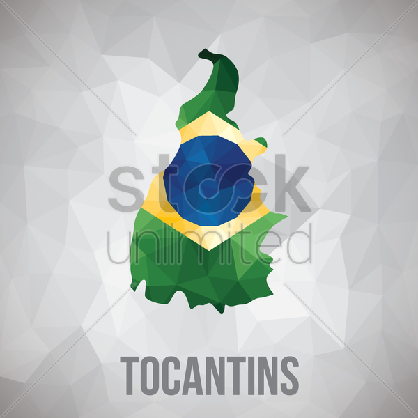 tocantins state map vector graphic