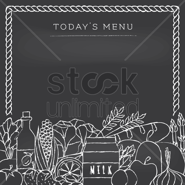 today's menu vector graphic