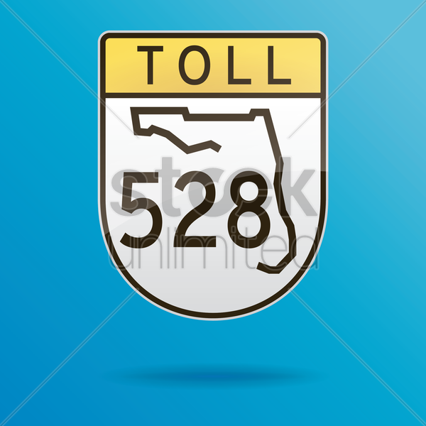 toll five twenty-eight route vector graphic