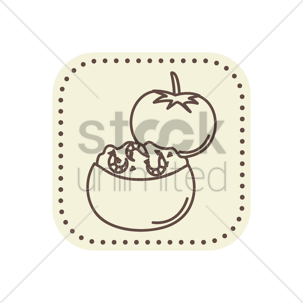 tomate crevette vector graphic