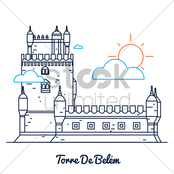 torre de belem vector graphic
