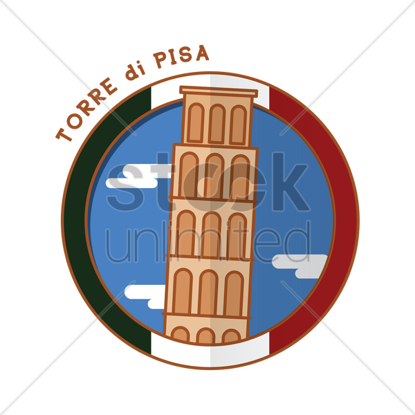 torre di pisa vector graphic