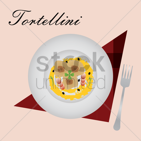 tortellini vector graphic