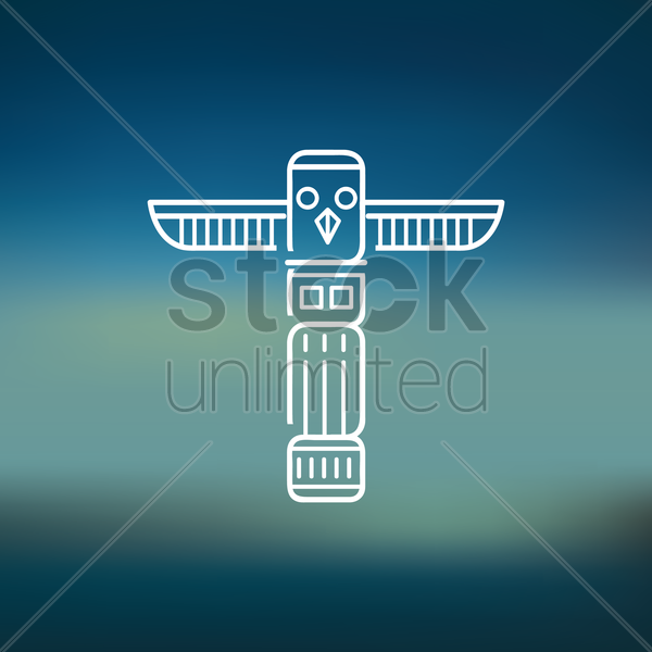 totem pole vector graphic
