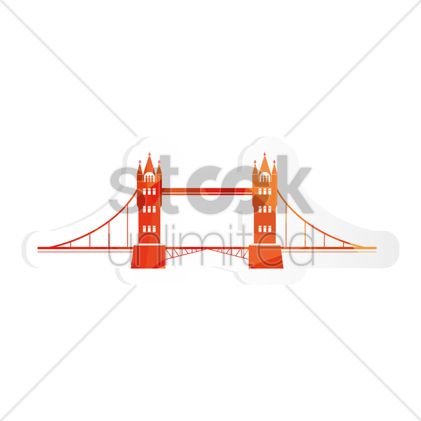 Free tower bridge sticker vector graphic