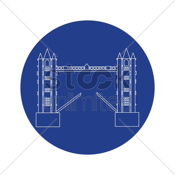 tower bridge vector graphic