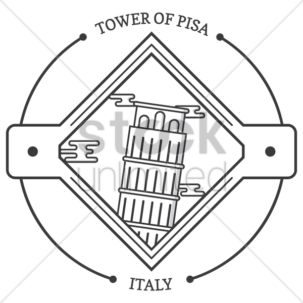 tower of pisa vector graphic