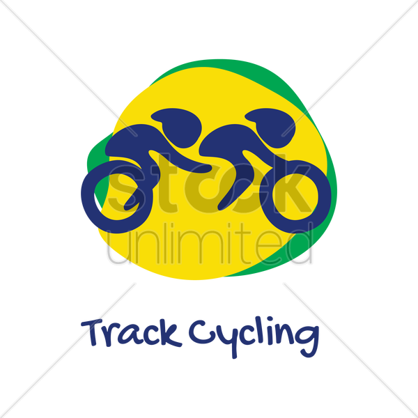 track cycling icon vector graphic
