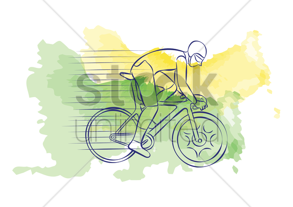 track cycling vector graphic