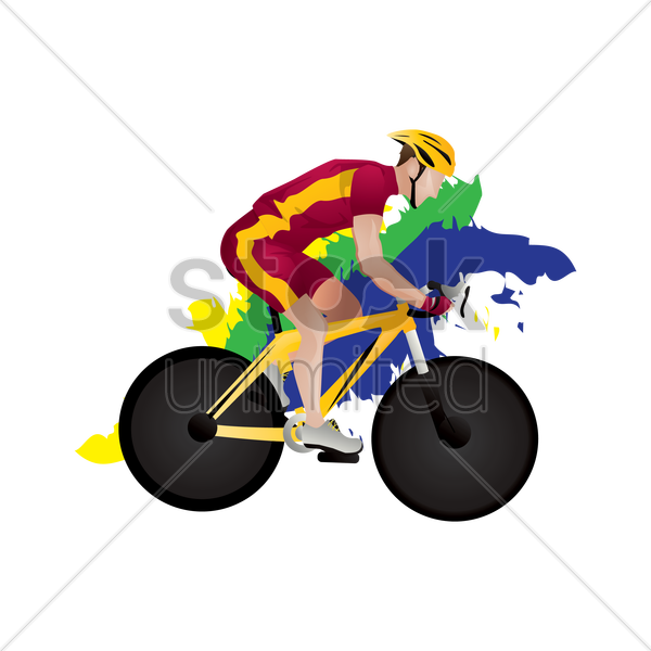track cyclist in action vector graphic