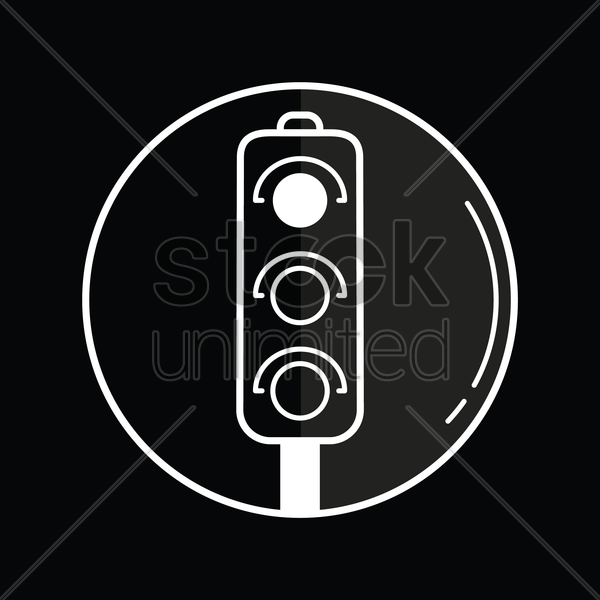 traffic signal icon vector graphic