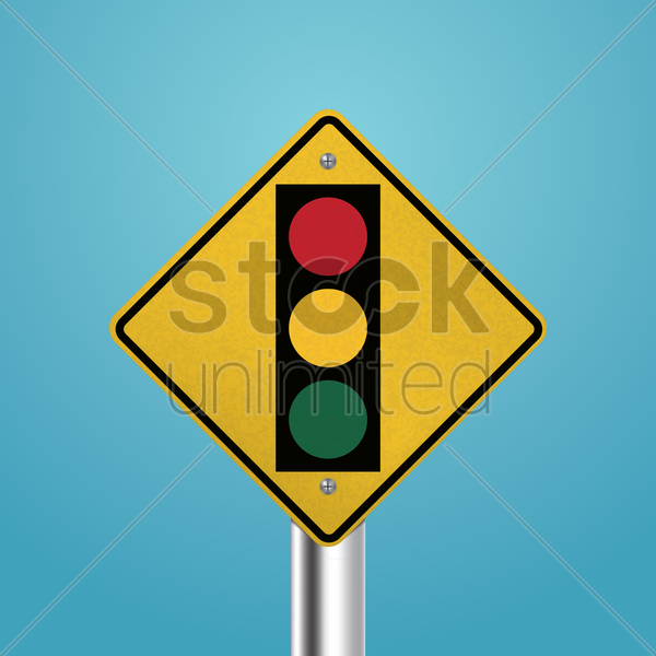 traffic signal signboard vector graphic