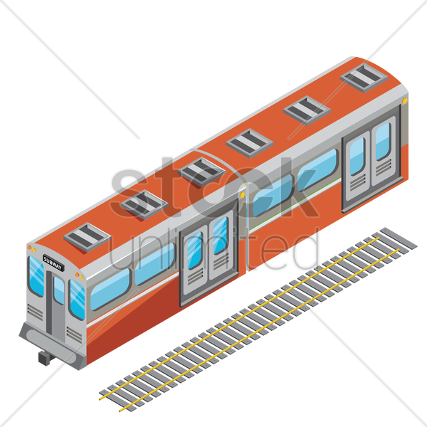 train vector graphic