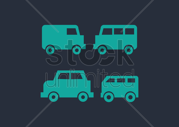 Free transport icons vector graphic