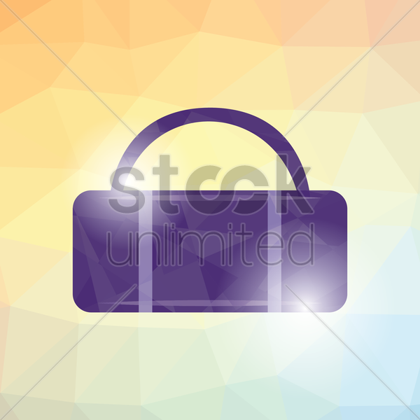 travel bag vector graphic