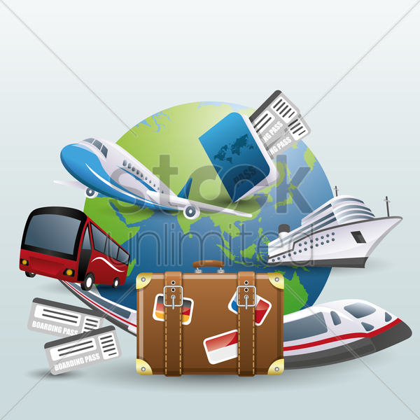 travel concept vector graphic