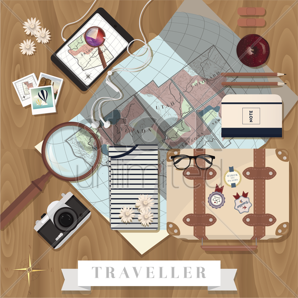 travel equipment vector graphic