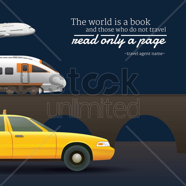 travel motivational quote vector graphic