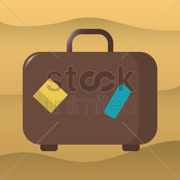 travel suitcase vector graphic