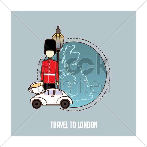 travel to london vector graphic