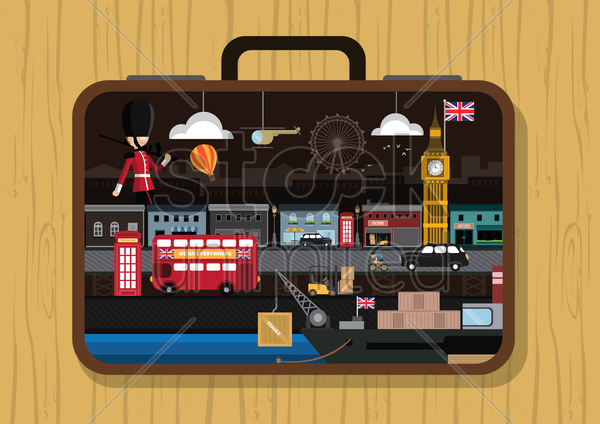 travel to united kingdom vector graphic