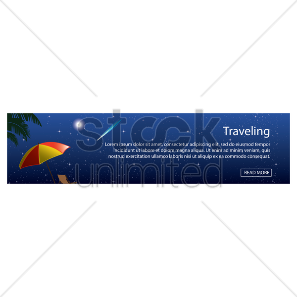 traveling banner vector graphic