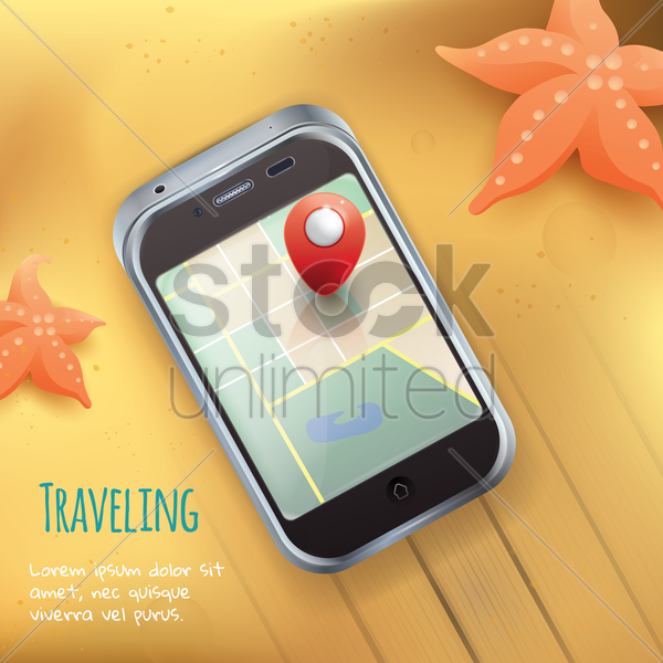 traveling concept vector graphic