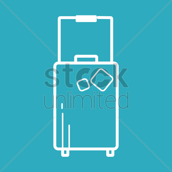 travelling bag vector graphic