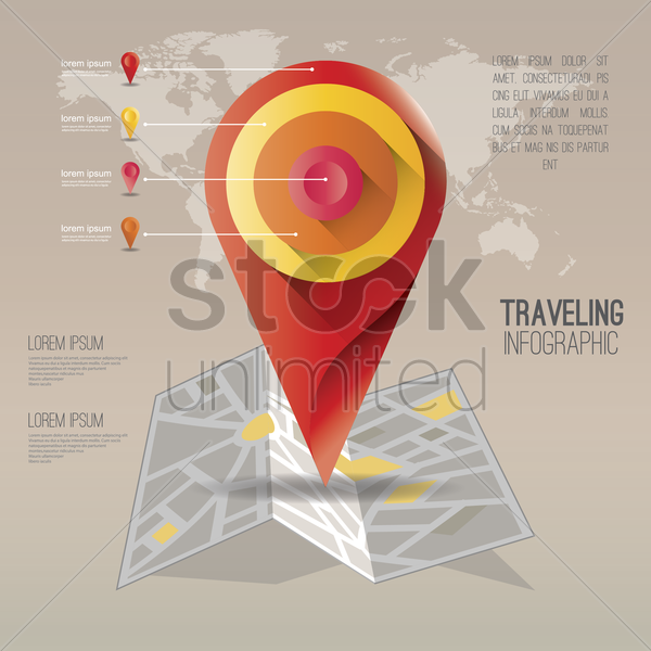 travelling infographic vector graphic