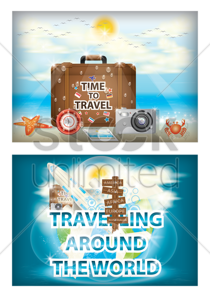 travelling wallpapers vector graphic