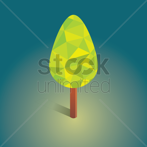 Free tree vector graphic