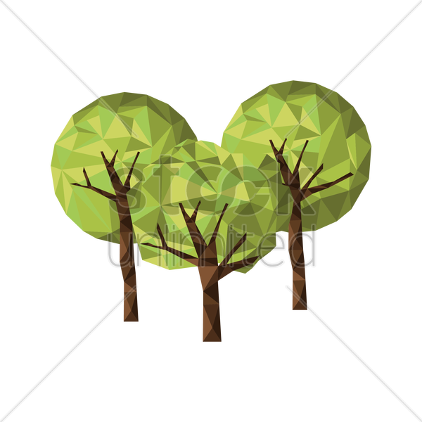 trees vector graphic