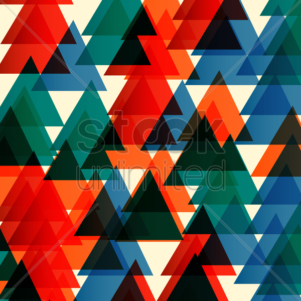 triangle patterned background vector graphic