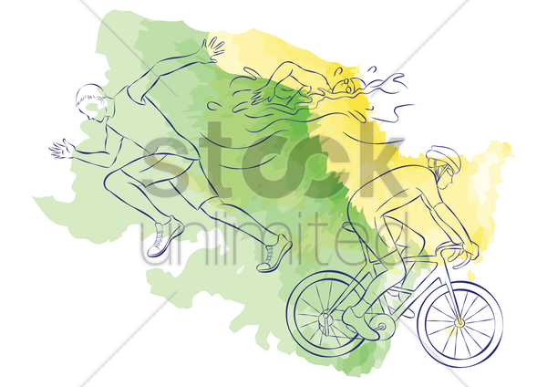 triathlon vector graphic