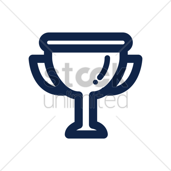 trophy icon vector graphic