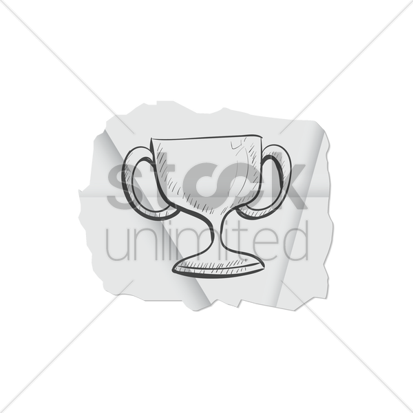 trophy vector graphic