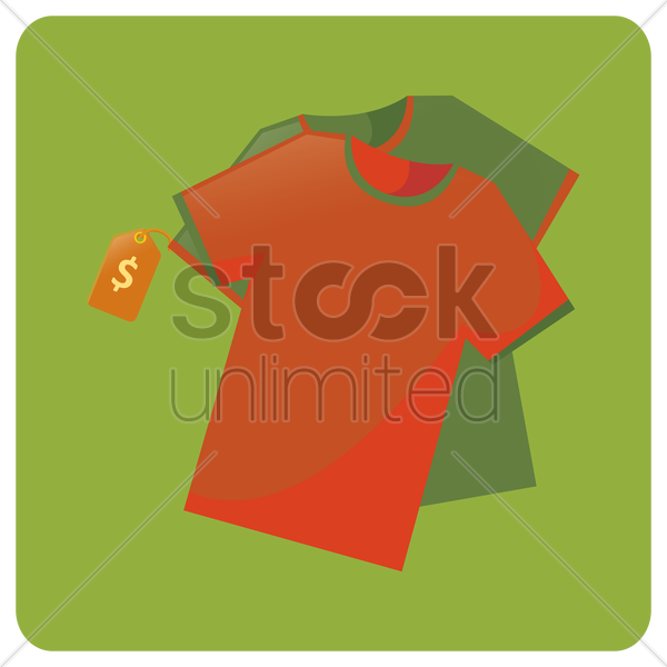 tshirts with price tag vector graphic