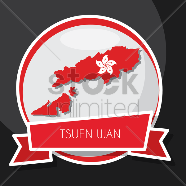 tsuen wan map vector graphic