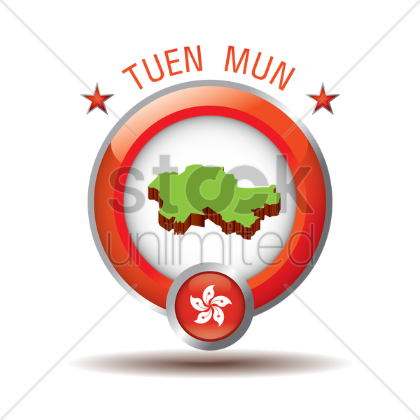 tuen mun map vector graphic