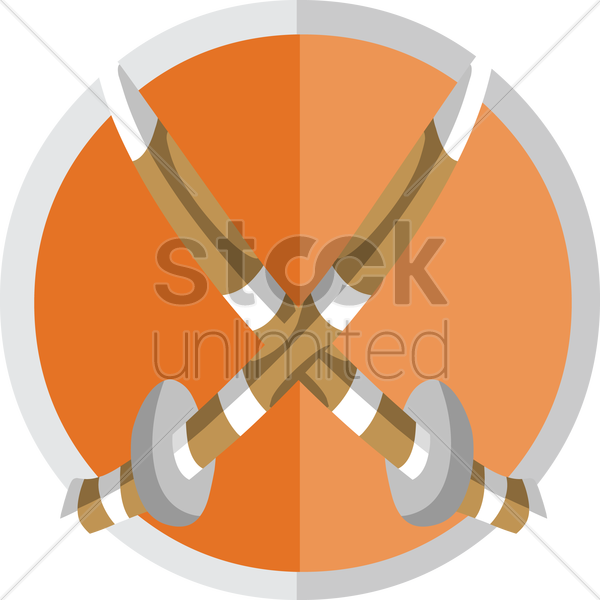 Free two crossed swords vector graphic