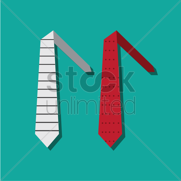 two ties vector graphic