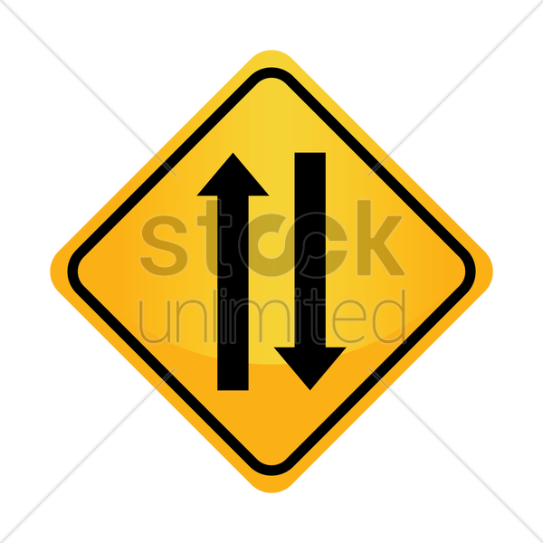Free two-way traffic sign vector graphic