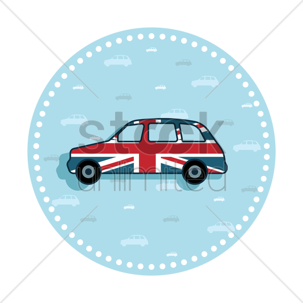 Free uk car sticker vector graphic
