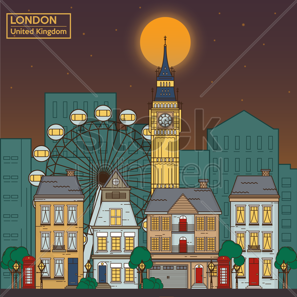 uk city space wallpaper vector graphic