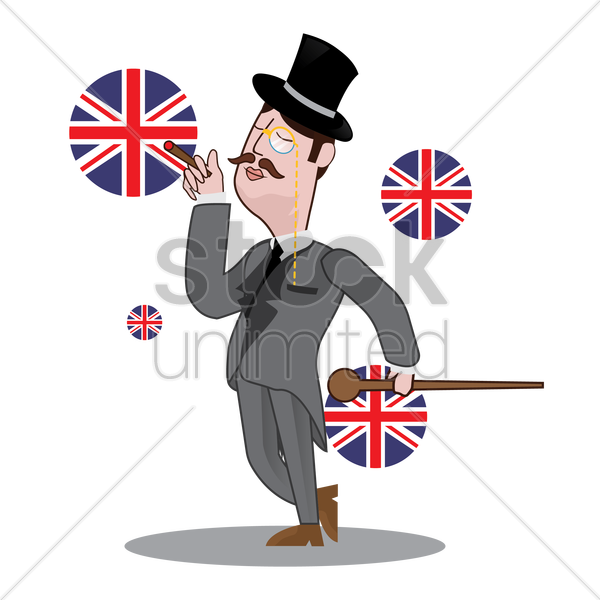uk detective smoking vector graphic