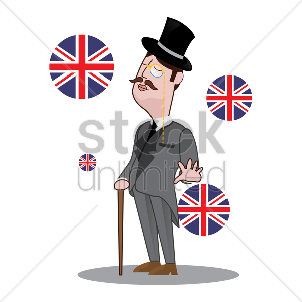 uk detective vector graphic
